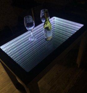 Стол столик журнальный эффект бесконечности 3д