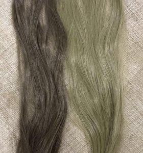 Искусственные волосы на заколках
