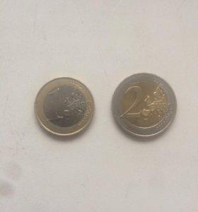 2 монеты евро Мальта