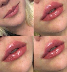 Пуxлые губы
