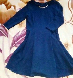 Синее платье zolla