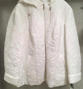 Куртка новая стеганая зимняя белая. Р 66-68