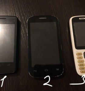 телефоны на запчасти ( цена за все 3 )