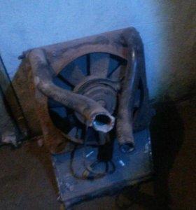 Радиатор с вентилятором ваз 2112