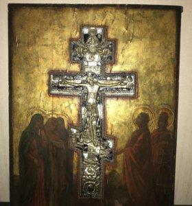 Икона Распятие, с крестом 45/36 см