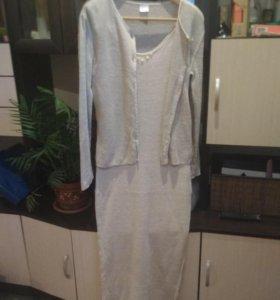 Платье натуральный лен.