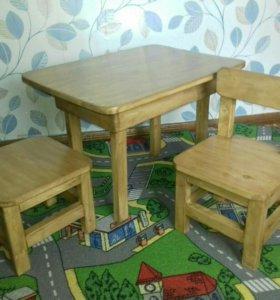 Детский столик,стул и табурет