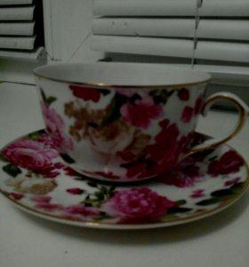 Чайная пара из китайского фарфора
