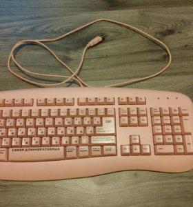 ⌨️ клавиатура розовая