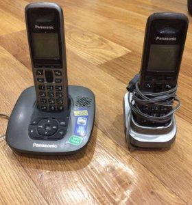 Стационарный телефон с 2-мя трубками