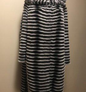 Пальто из шиншиллового кролика 100 см