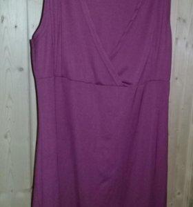 Платье бордовое 46р + Подарок лак для ногтей