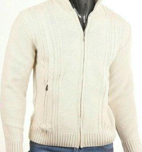 Новый шерстяной свитер (синий)