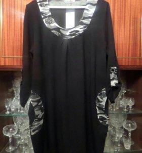 Платье-туника р.64
