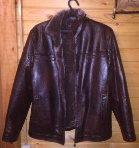 Пуховик , куртка , зимний , мех, Новый (xl)