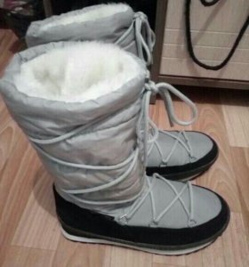 Сапоги дутики зима
