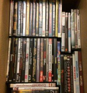 Коллекция DVD фильмов в 3 ящиках