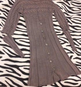 Платье ручная вязка новое