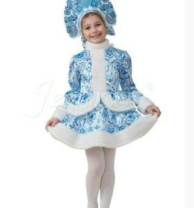 Карнавальный новогодний костюм снегурочки гжель
