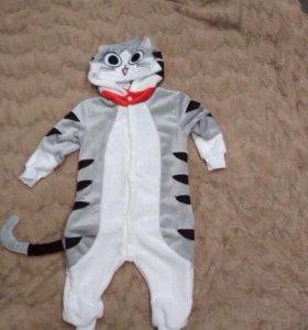 котик пижама новая кигуруми 100 см