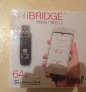Leed iBridge 64gb (флешка для iPhone)