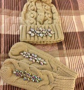 Шапка и рукавицы (комплект)