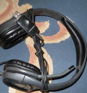 Гарнитуры (наушники с микрофоном) проводные