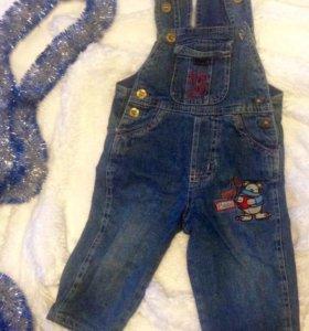 Детский джинсовый комбинезон!
