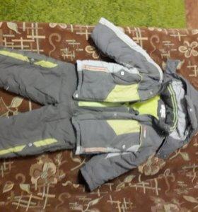 Комбинезон с курткой зимний на 4-5 лет