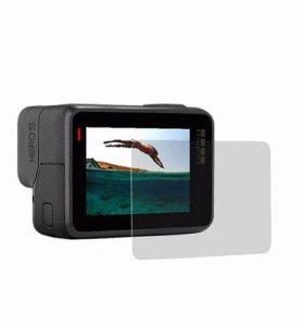 Защитная пленка на экран и линзу GoPro 6 и hero 5