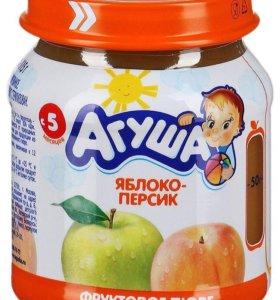 Пюре фруктовое агуша с молочной кухни разные