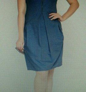 Платье из тонкой джинсы 54-56 размер