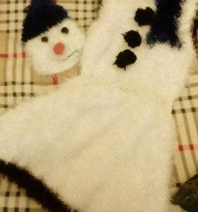 Новый карновальный Костюм снеговика женский