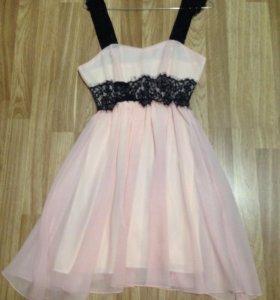 Платье розовое(новое)