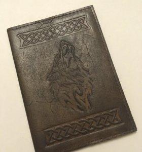 Обложка на паспорт нат кожа