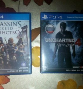 Игры для PS4-UNCHARTED 4, ASSASSIN'S CREED UNITI