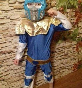 Новогодний костюм с маской для мальчика