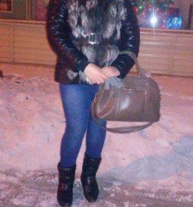 Куртка + шапка из чернобурки