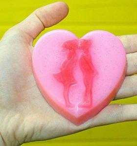 Натуральное сувенирное мыло сердце