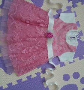 Платье 3-6 мес
