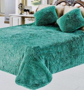 НОВОЕ Плед-покрывало и 2 подушки