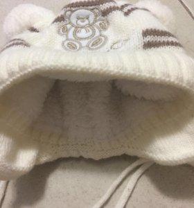 Зимняя шапочка на малыша