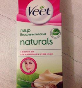 """Восковые полоски для лица """"Veet"""