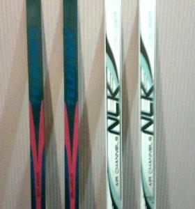 Лыжи беговые пластик