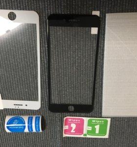 Защитное 3Д 3D стекло пленка на черный iPhone 7