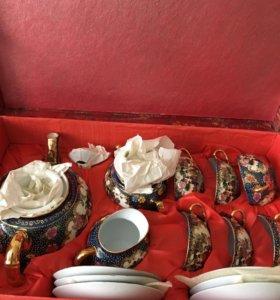 Чайный сервиз с гейшей литофания новый