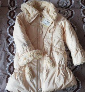 Пальто для девочки размер 122