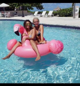 Большой фламинго надувной матрас