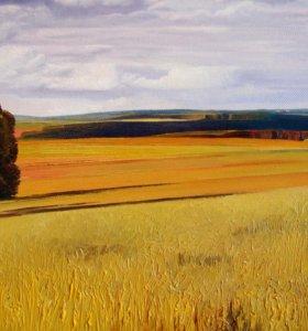 Картина маслом (пейзаж)