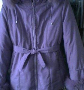 Куртка. Цвет розовый (3,4 фото)  Размер 46-48.